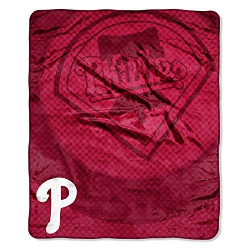 "MLB Philadelphia Phillies ""Retro"" Raschel Throw Blanket, 50"" x 60"""