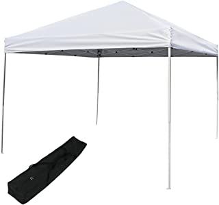 Sunnydaze Pop Up Canopy Tent 12 x 12 Foot with Outdoor Carrying Bag, White