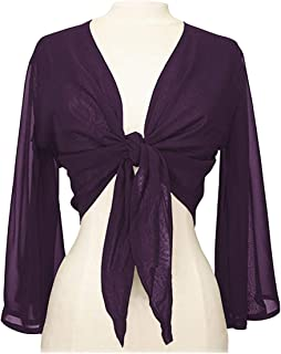 Indian Trendy Women's Chiffon Flair Wrap Tie Top Choli Blouse Belly Dance Gypsy Bolero Shrugs Cardigan