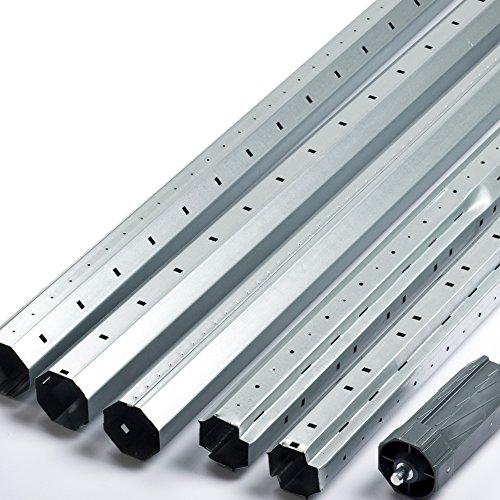 Stahlwelle / Teleskopwelle / Rolladenwelle Set mit Walzenkapsel Länge bis 368cm f. Rolladen Rollladen SW60 8-Kant