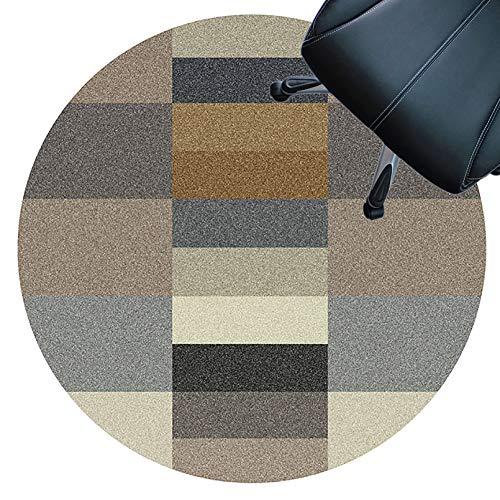 XJRS stuhlmatte bodenschutzmatte Stuhlunterlage Für Hartholzböden, Kurzflorige Teppiche, Antirutsch, rutschfeste Unterlage, Easy to Clean, Bodenschutzmatte(Size:160cm,Color:D.)