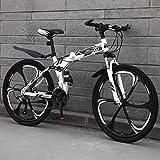 LYhomesick Bicicleta Plegable Mujer 24 Pulgadas Marco De Acero De Alto Carbono Todoterreno Velocidad Variable Montar Al Aire Libre,Negro,27 * 26''*3