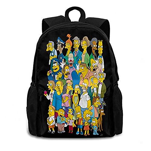 Amacigana The Simpsons - Mochila impermeable para niños, para exteriores, viajes, camping, Simpsons1., large,