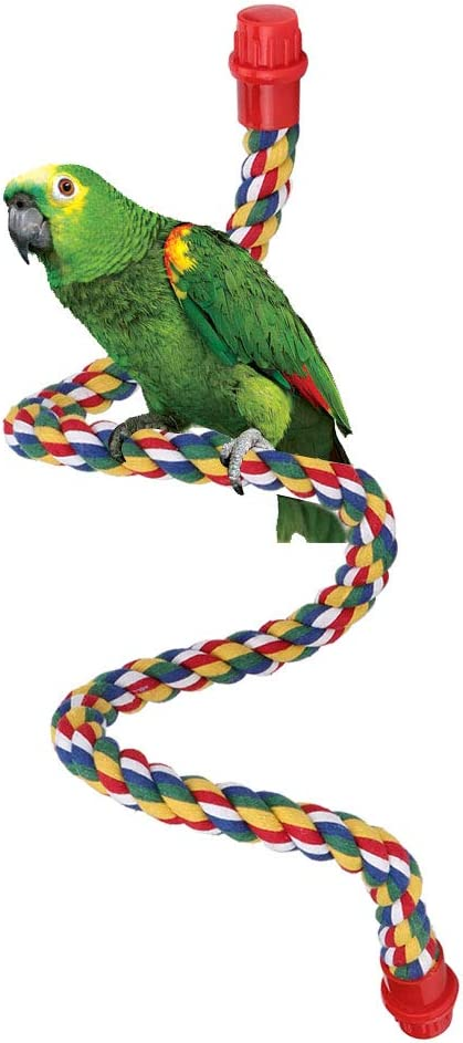 Nicoone In a popularity Bird Swing Overseas parallel import regular item Stand Hanging Cage Toy Ha Perches Parrot