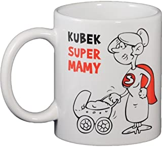 Ceramic Funny Mug - Polish Super Mama (Mom)