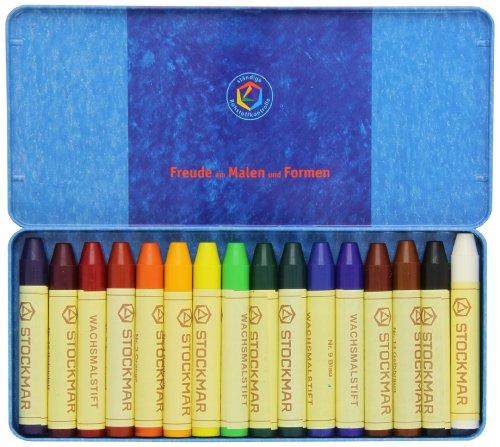 Stockmar Beeswax Stick Crayons, Set of 16
