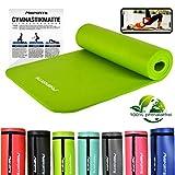MSPORTS Tappetino da Ginnastica Premium 183 x 61 x 1 cm Verde Olivo | Yoga Pilates Fitness Allenamento | con Cinturino | Senza ftalati