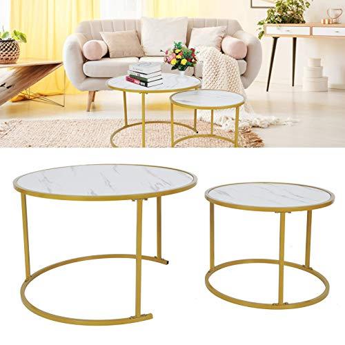 Mesa de baño de mármol, mesa de café, mesa de estar redonda, mesa de té auxiliares, mesa de cocina, sala de estar, mesa redonda, simple elegante 50-70CM