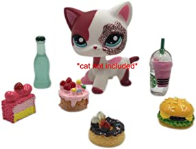Yc Food Cake Drink Burger Accessories Lot for Littlest Pet Shop LPS Dog Cat PET NOT Included