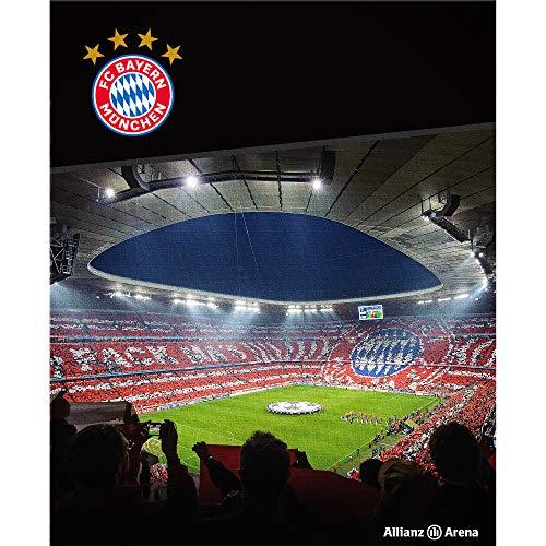 FC Bayern München Teppich Allianz Arena 100 x 120cm rutschhemmend lärmhemmend Fan-Teppich Kinder-Teppich Vorleger Läufer Fußball FCB Deutscher Rekord-Meister Mia san Mia Champions Leage Bundesliga