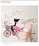 Wandsticker aus PVC-Vinyl, abnehmbar, flach, dekorativ, wasserdicht, für Schlafzimmer, Wohnzimmer, Fernseher, Wandmalerei, Kinderzimmer, Reiten, 142 x 73 cm