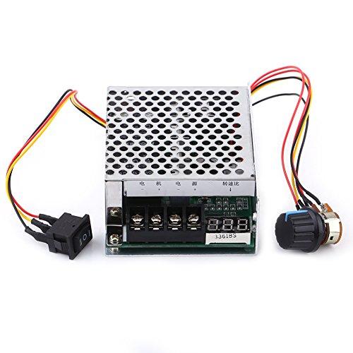 10V-55V 40A Regulador de Velocidad del Motor de CC Regulador Inversor de Velocidad con exhibicin de Digitaces Interruptor Reversible de Motor