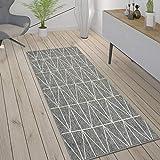 Paco Home In- & Outdoor Teppich, Terrasse u. Balkon, Wetterfest Skandinavischer Stil, Grösse:80x150 cm, Farbe:Grau