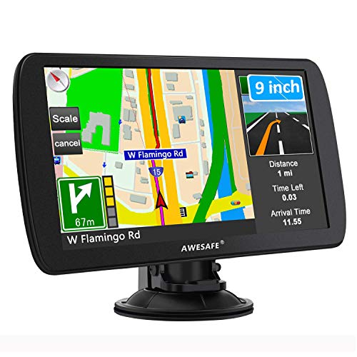 Navi 2020 9 Zoll GPS Navigation für LKW LKW LKW Wohnwagen Navi für Auto UK Fußgänger Notfall Bus Taxi