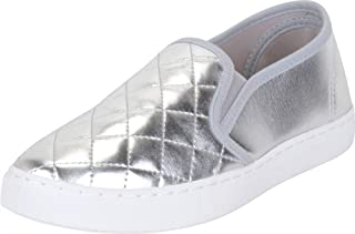 Cambridge Select Women's Low Top Closed Round Toe Quilted Stretch Slip-On Fashion Sneaker