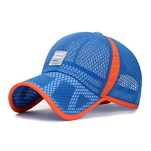 Gorras para niños de malla (52-57 cm), diseño de Youth Sun Hats 8-14 años para exteriores, Sunscreen Bone Brim Baseball Cap Breathable Apply to Running Travel Fishing Etc-C_China_52-57 cm