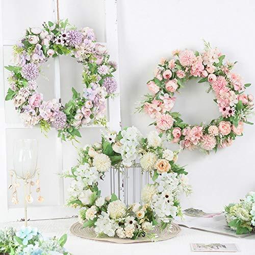 XdiseD9Xsmao Kunstbloemen, levendige kleuren, namaakbloem, krans, deur, slinger, doe-het-zelver, huwelijk, hangen, ornament, thuis, wanddecoratie