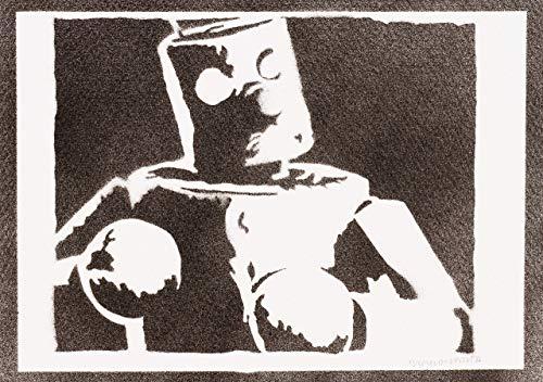 Tekken Mokujin Poster Plakat Handmade Graffiti Street Art - Artwork