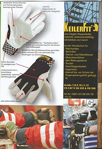 Keiler fit schutzhandschuh gr. 10 ideal für garten, hobby, freizeit
