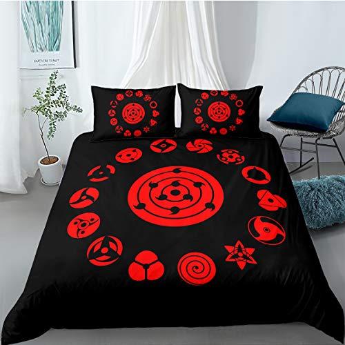 Naruto Bettwäsche-Set, Bettbezug Kopfkissenbezug, Mit Reißverschluss Und Kissenbezug, Für Kinder, Jungen, Teenager, Naruto 7, 135 x 200 cm