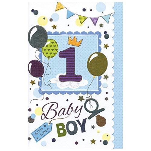 Susy Card 40009810 Geburtstagskarte, 1. Geburtstag/ Junge