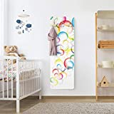 Gr/ö/ße:2 Mal 94cm x 76cm Apalis Pellicola Adesiva per mobili Ikea Billy Bookshelf Linen Damask Ornament