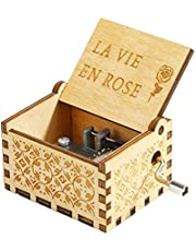 Zesta Wooden Hand Cranked Collectable Engraved Music Box
