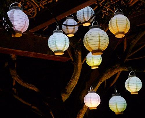 WIM-SHOP 20-STÜCK LED Party Lampion ø 15cm in 5-Pastell-Farben