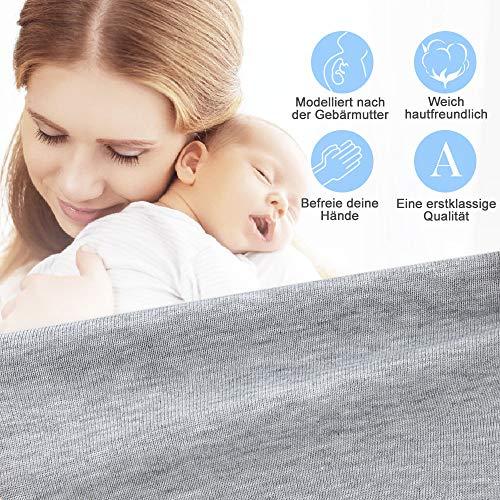 Lictin Babytragetuch Kindertragetuch Babybauchtrage Sling Tragetuch für Baby Neugeborene Innerhalb 16 KG - 6