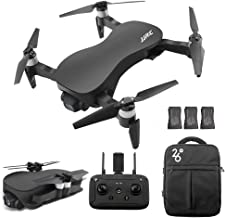 $399 » GoolRC JJRC X12 GPS Drone with 4K HD Camera, 3-Axis Stabilized Gimbal, 5G WiFi FPV Brushless Motor Drone, Multi-Modes Positioning Foldable RC Quadcopter for Adults with 3 Battery and Handbag (Black)