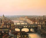 Painting Of Ponte Vecchio Bridge Italy Europe Home Decor