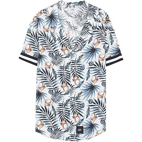 Sixth June Damenhemd mit Streifen Coco Blau Weiß Gr. L, mehrfarbig