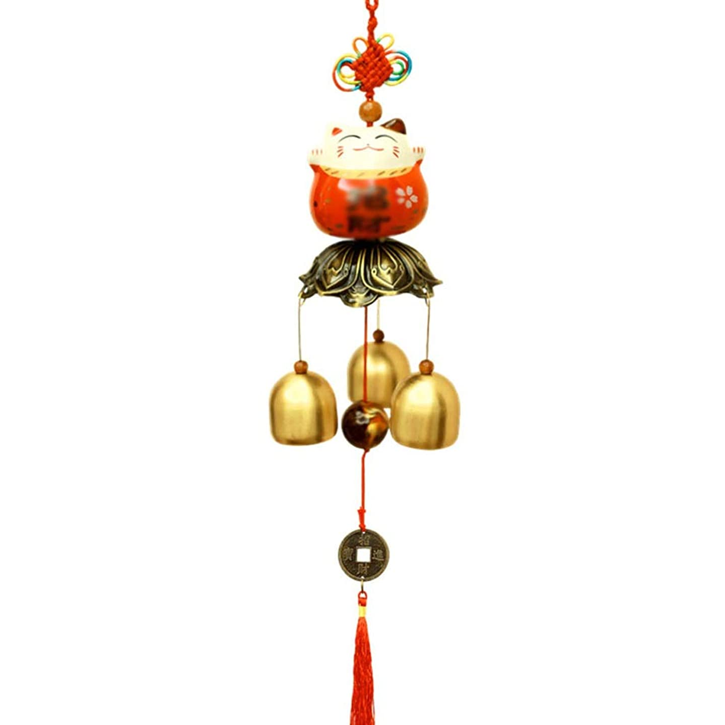 Outdoors Wind Chimes Metal Wind Chime Shop Door Bell Hanging Door Decoration Copper Bells Pendant Creative Gifts Home Decoration Home Garden Décor Wind Chimes (Color : Red)