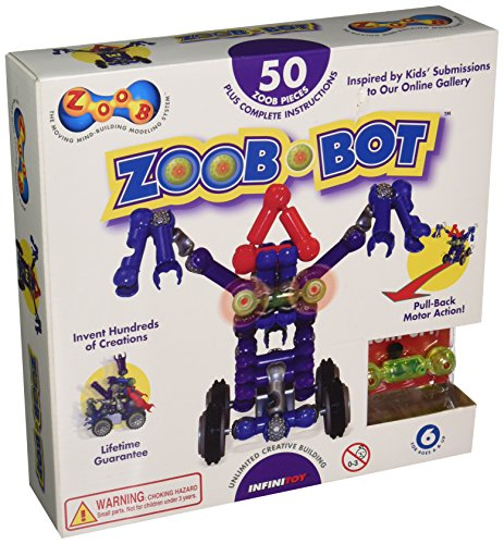 ZOOB 0Z14001 ZOOBBot Moving Mind-Building Modeling System, Assorted Colors, 50-Pieces by Zoob
