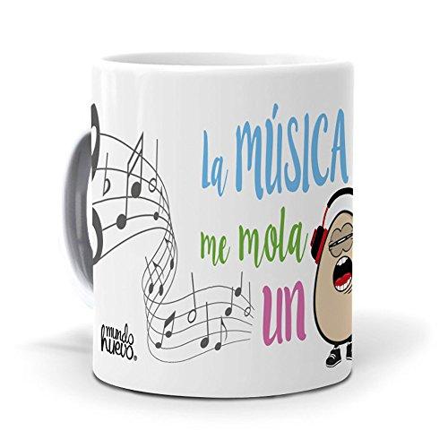 mundohuevo Taza La música me Mola un Huevo