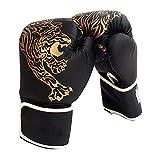 Eachbid Guantes de Boxeo para niños,Guantes de Boxeo Unisex,Juego de 2 Unidades, Gloves Guantes para Entrenamiento de Boxeo, Kickboxing, Sparring, Muay Thai y Heavy Bag (Negro, S - niños)