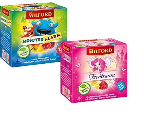 Milford Kindertee | Set 01 | 2 verschiedene Sorten | Monster Alarm | Feentraum | Tee | Aufgussbeutel
