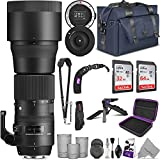 Sigma 150-600mm 5-6.3 Contemporary DG OS HSM Lens for Canon DSLR Cameras + Sigma USB Dock with Altura Photo Complete Accessory and Travel Bundle