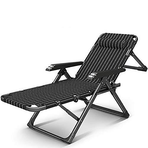 WXJHA Outdoor Folding Lounge Zero Gravity Chair 250-Lb Kapazität Multifunktionale Betonlager Bedbreathable Stoff, abnehmbare Kopfstütze, Heavy Duty Folding Chaise für einen Pool, Terrasse, Garten