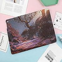 iPad air1 air2 new ipad 2018 2017 ケース 手帳型 9.7インチ兼用 iPad 5 91 カバー スリープ スタンド注文した天国のような風景ミステリーフォレストライジングサンオイルペイントスタイル