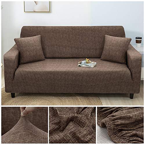 WXQY Sala de Estar Cubierta de sofá elástica geométrica Moderna Cubierta de sofá a Prueba de Polvo de explosión Completa Silla Cubierta de sofá en Forma de L A1 2 plazas