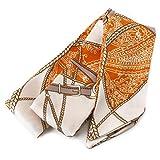 [ジュエルボックス] JewelVOX スカーフ ネックレス 76種類デザイン サテン生地 スカーフ 【ベルト柄2】 A