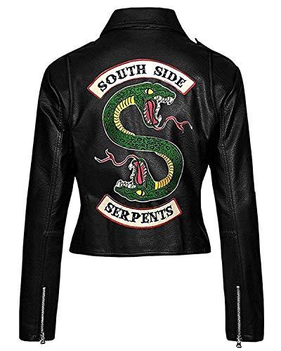 LeatherTrendz Riverdale Southside Serpents Chaqueta para Mujer en Piel sintética (XXS a 5XL) Chaqueta Riverdale