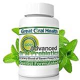 Chewable Oral Probiotics for Mouth — Oral Probiotics — Gum Disease Gingivitis & Bad Breath Treatment Supplement w/BLIS K12 M18 — Dentist Formulated 60 Lozenge Mint Flavor eBook Included