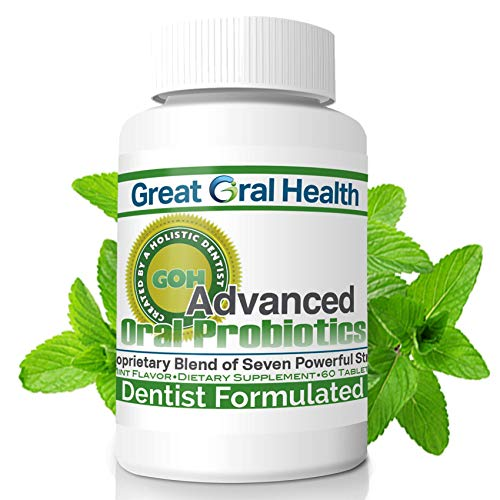 Chewable Oral Probiotics for Mouth — Oral Probiotics — Gum Disease Gingivitis & Bad Breath Treatment Supplement w/BLIS K12 M18 — Dentist Formulated 60 Lozenge Mint Flavor eBook Included
