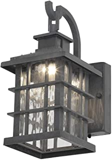 Home Decorators Collection Summit Ridge Collection Zinc Outdoor Integrated LED Small Wall Mount Lantern