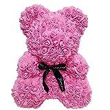 CerisiaAnn - Orso artificiale romantico, regalo per San Valentino, compleanno, matrimonio e anniversario, colore: rosso vino (rosa)