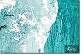 TPCK Recife, Brazil Ursprüngliches Karten-Design Blue