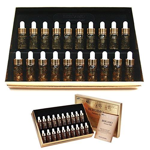 [ベルガモ] Bergamo/ラグジュアリーゴールドコラーゲン&キャビアリンクルケアアンプルセット13ml * 20ea/Luxury Gold Collagen & Caviar Wrinkle Care Repair Ampoule Set 13ml