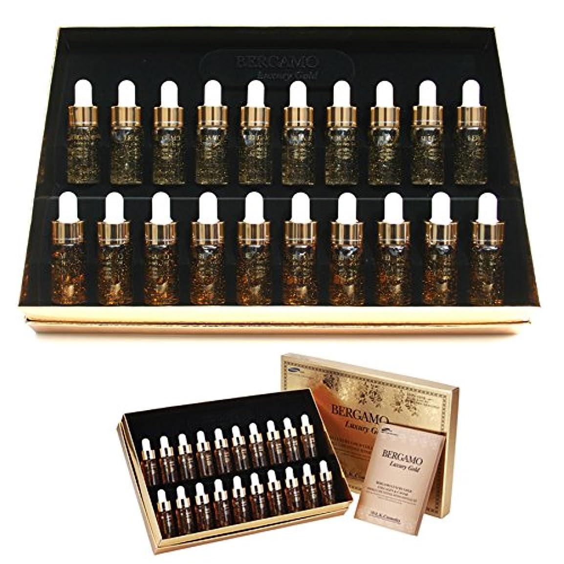 ゴム解説消す[ベルガモ] Bergamo/ラグジュアリーゴールドコラーゲン&キャビアリンクルケアアンプルセット13ml * 20ea/Luxury Gold Collagen & Caviar Wrinkle Care Repair Ampoule Set 13ml * 20ea/韓国化粧品/Korean Cosmetics [並行輸入品]
